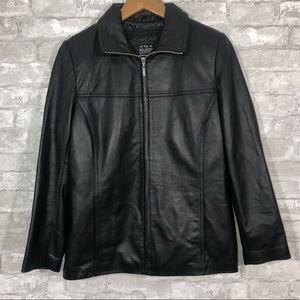 Women's Brown Wilson's Leather Jacket Size Small